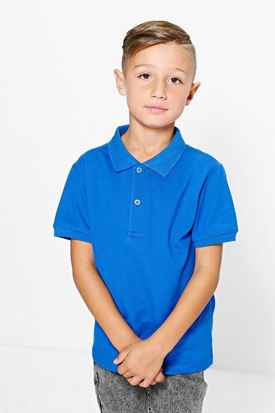 Boys Solid Colour Polo Top