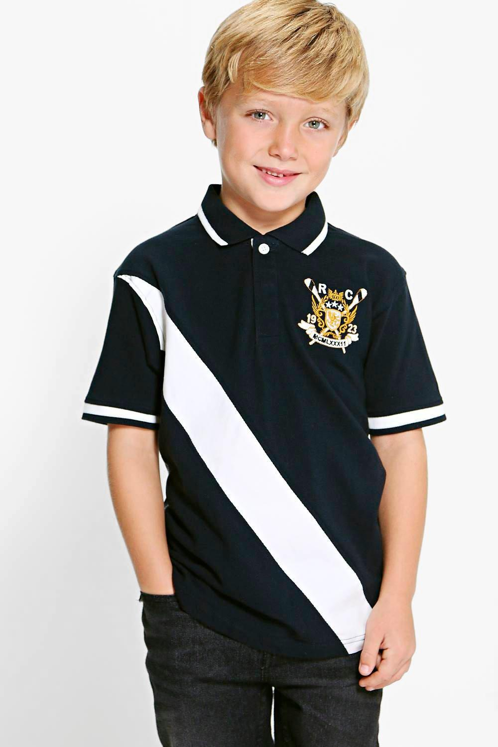 Boys Embroidered Polo Top