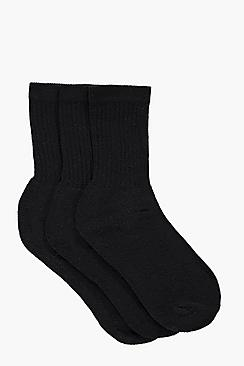 Boys Ribbed Sports Socks 3 Pack