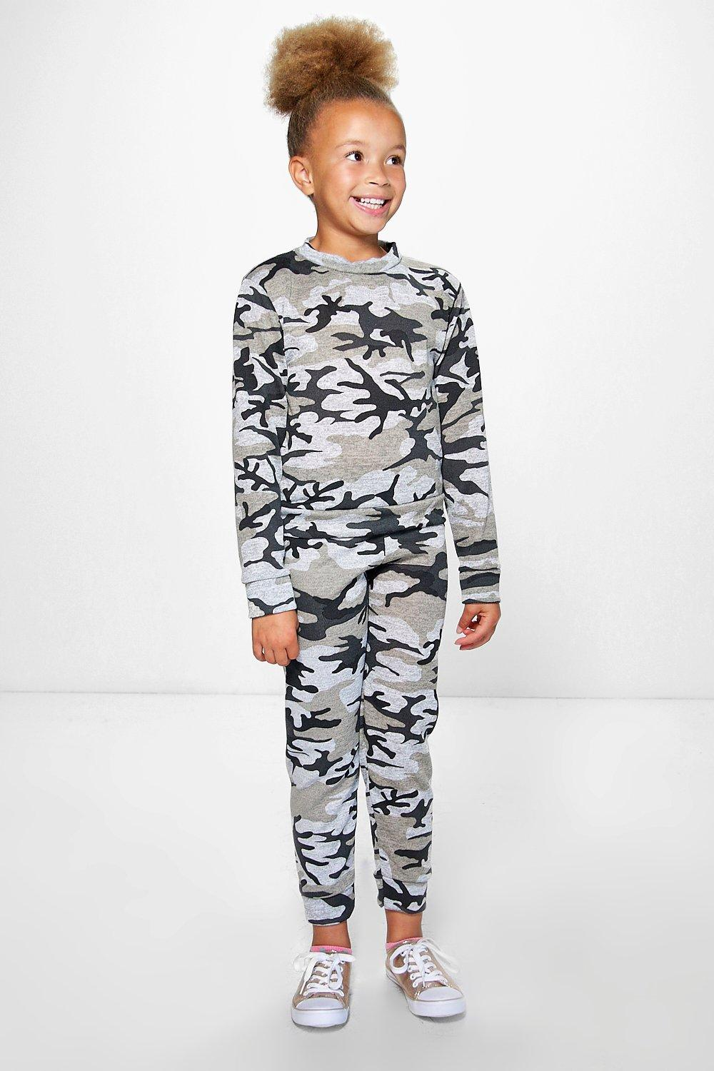 Girls All Over Camo Tracksuit Set