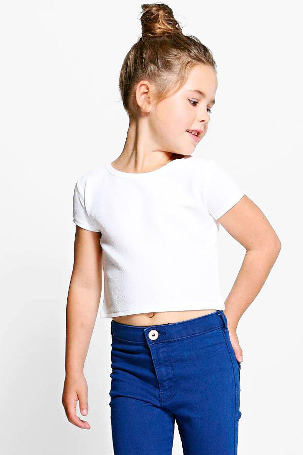 Girls Mix & Match Crop Cap Sleeve Top