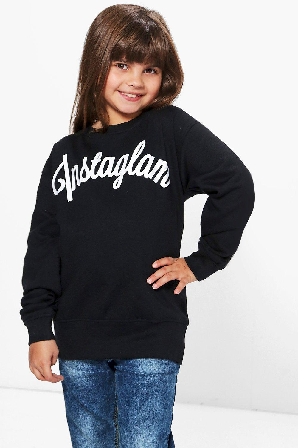 Girls Instaglam Sweat Top
