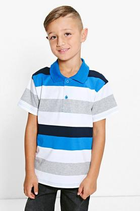 Boys Striped Polo Top