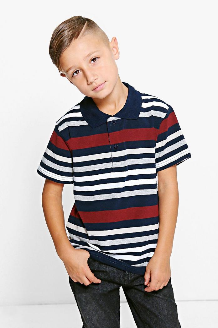 Boys striped polo t shirt boohoo for Boys striped polo shirts