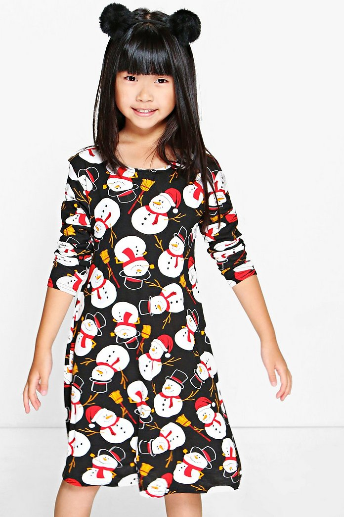 Girls Snowman Swing Dress