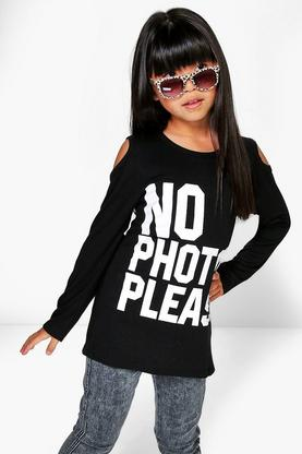 Girls No Photos Long Sleeve Top