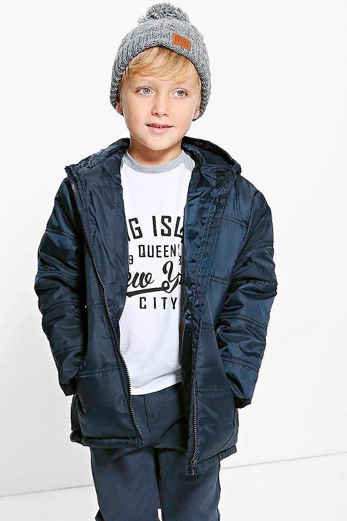 Boys Padded Hooded Winter Coat
