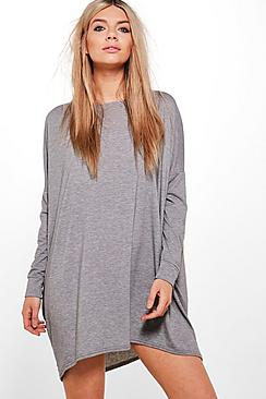 Batwing Sleeve Jersey Dress