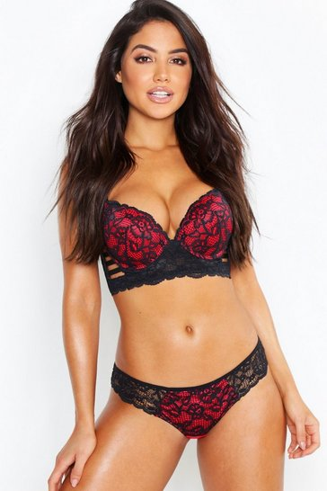 Black Cut Out Strapping Brazilian