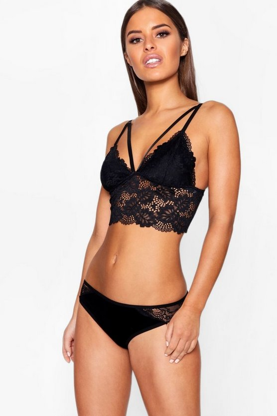 Aubrey Strapping Longline Lace Bralet