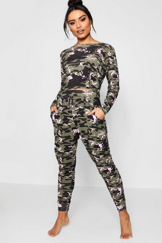 Brooke Camo Print Lounge Set