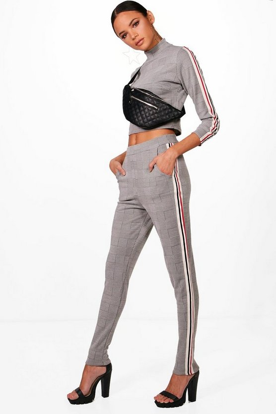 Sasha Athleisure Houndstooth Set