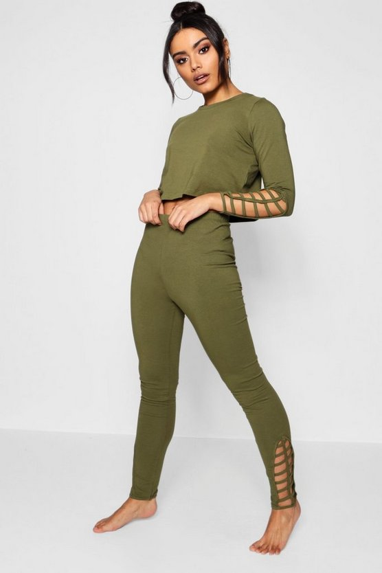 Kady Ladder Detail Legging & Top Set