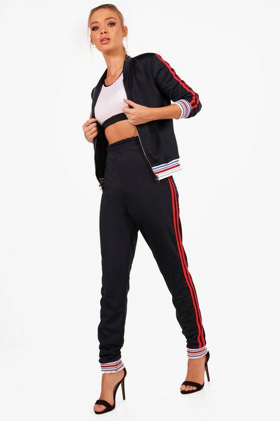 Athleisure Sports Stripe Tracksuit