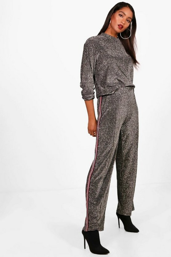 Maya Athleisure Sports Stripe Glitter Set