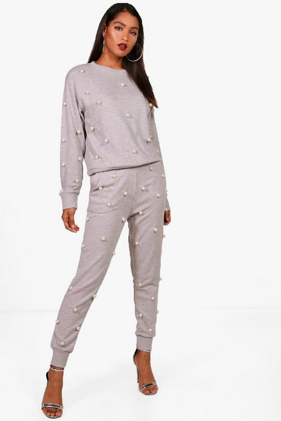 Rosie Pearl Detail Sweat & Jogger Set