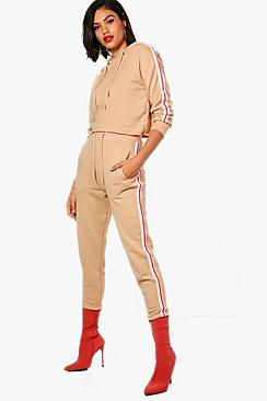Athleisure Sports Tape Hooded Tracksuit