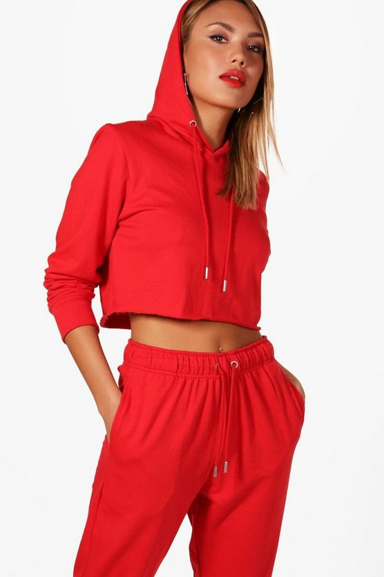 Athleisure Cropped Hoodie