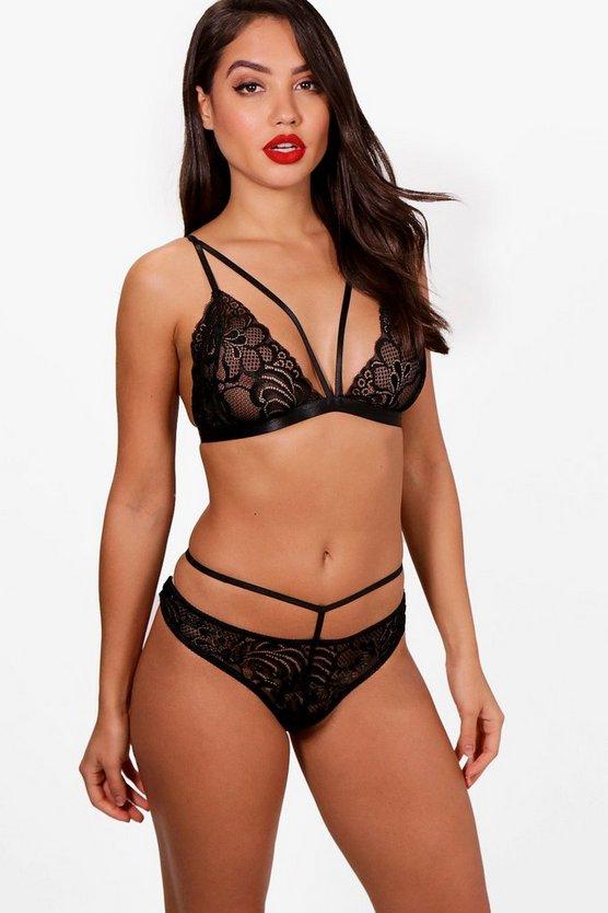Nora Lace Bralet & Knicker Set