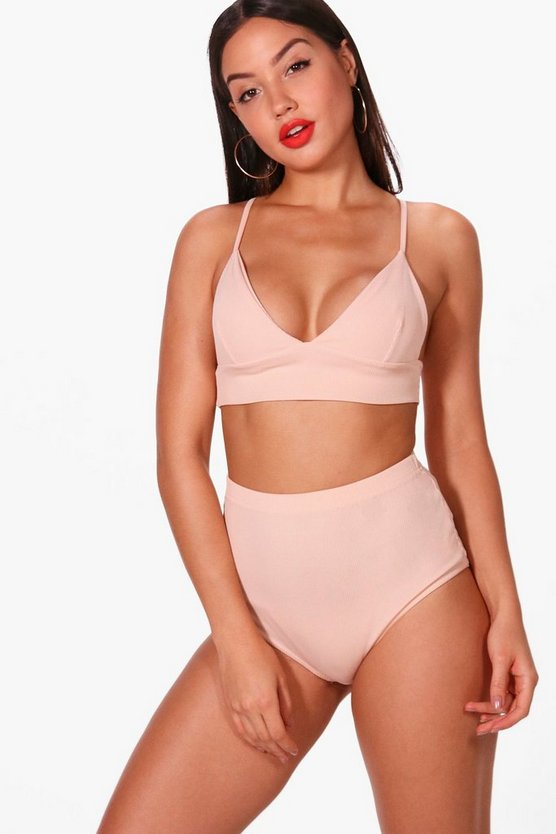 Aubrey Longline Bralet & High Waisted Knicker