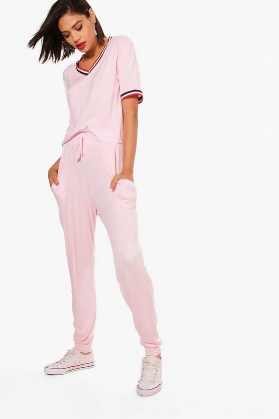 Eve Sports Rib T-Shirt & Jogger Set