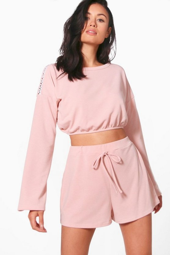 Poppy Elasticated Hem Sweat & Short Set