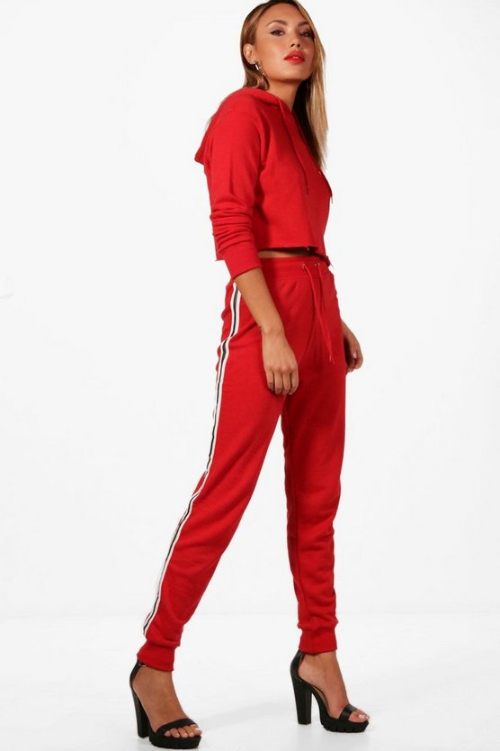Neve Athleisure Sports Stripe Crop Tracksuit
