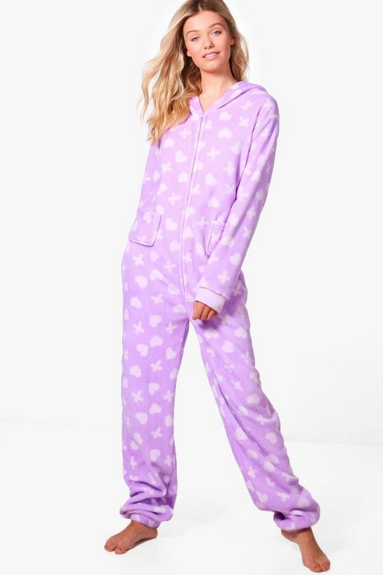 Iris Hearts & Crosses Print Onesie