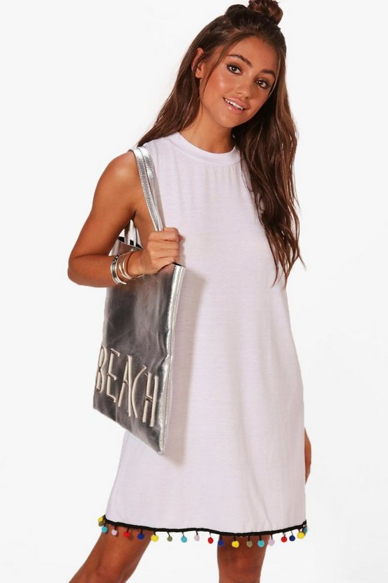 Frankie Pom Pom High Neck Dress
