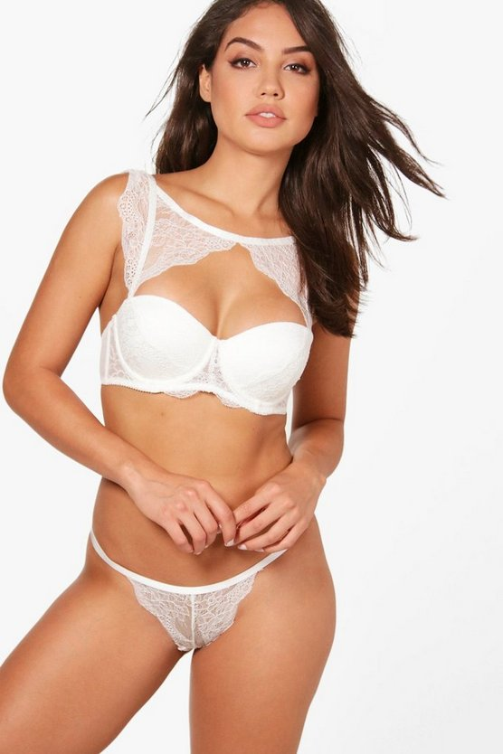 megan string en dentelle