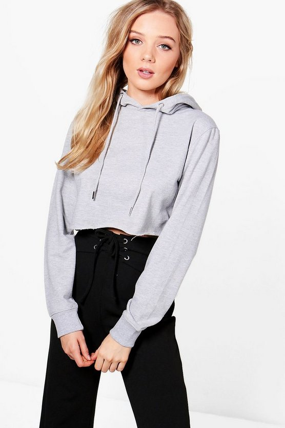 Willow Cropped Lounge Hoodie