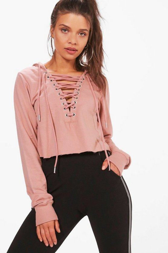 Orla Cropped Lace Up Lounge Top