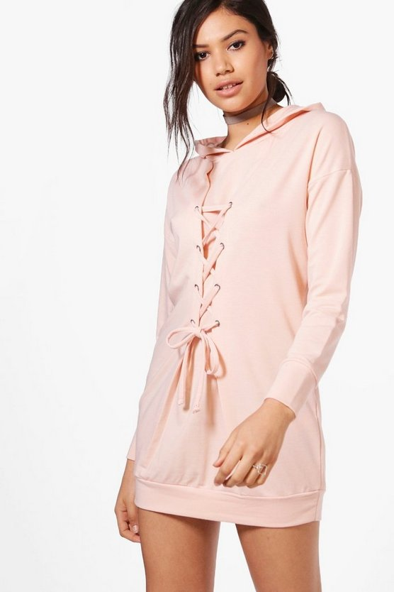Isobel Lace Up Front Sweat Dress