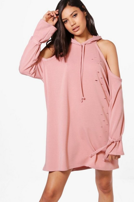 Holly Cold Shoulder Sweat Dress