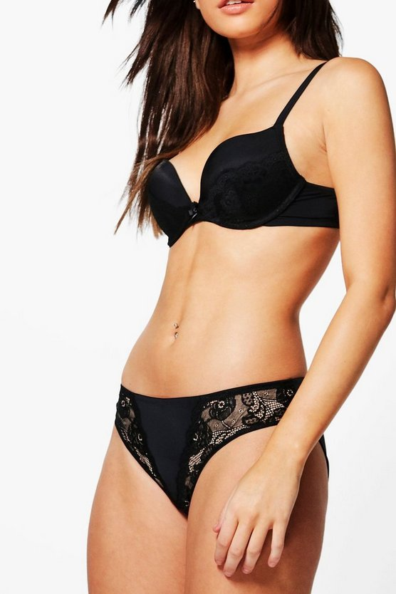 Amelie Lace & Microfibre Brief