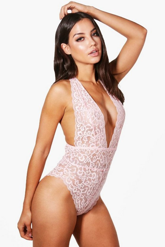 Laila Strap Detail Covered Lace Bodysuit