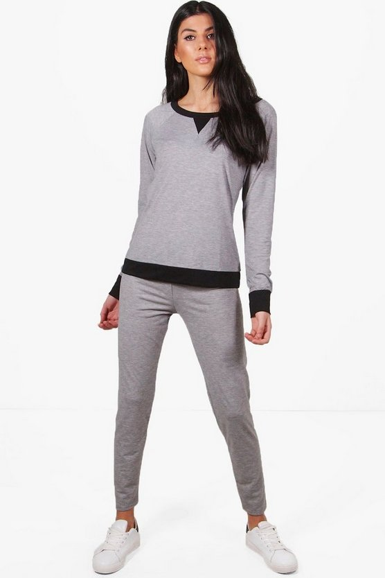 Black Trim Raglan & Legging Set