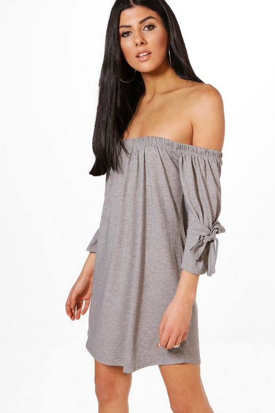 Across Shoulder Jersey Dress