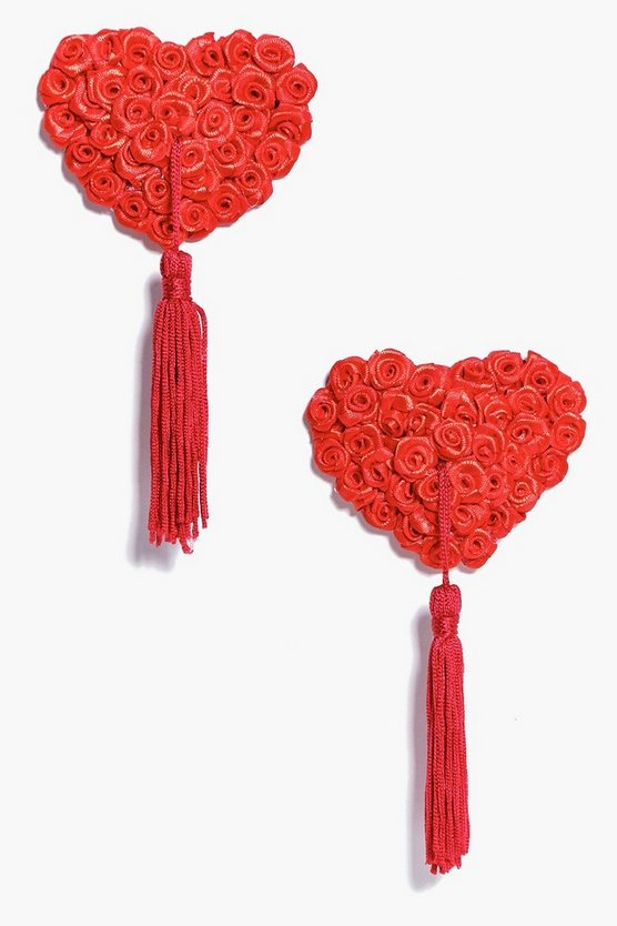 Julia Heart Rose Flower Nipple Tassles