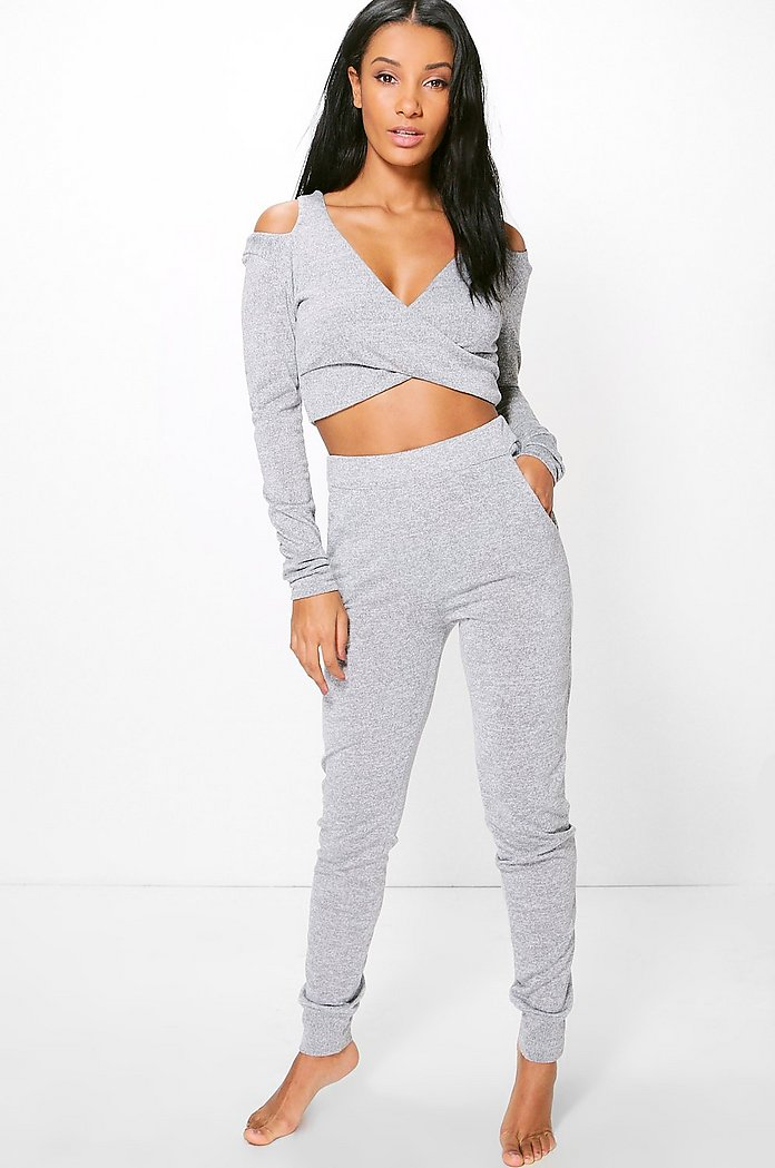 Imogen Cut Out Wrap Crop Set