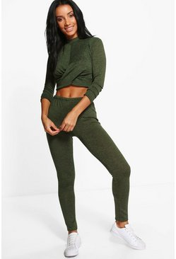 Phoebe Twisted Crop Legging Set
