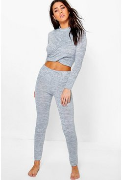 Erin Twisted Crop Legging Set