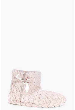 Keira Sequin Bootie Slippers