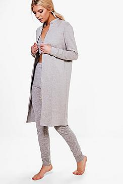 Annabelle Zip Front Lounge Coat