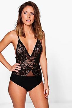 Ellie Lace & Mesh Panel Body