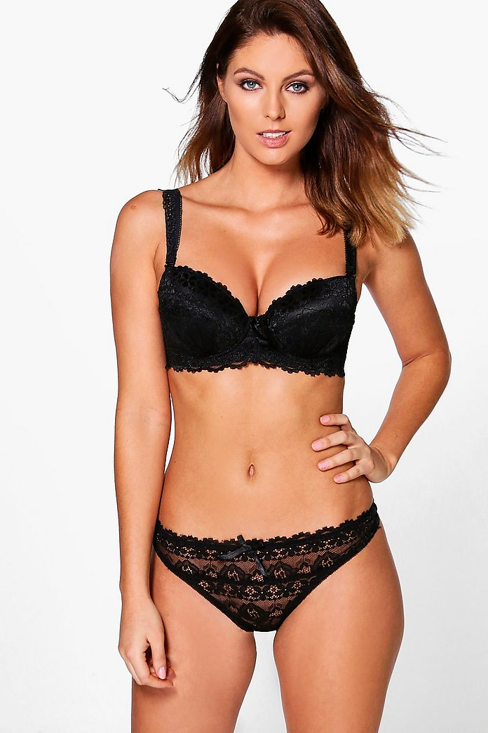 Alice Two Tone Lace Balcony Bra + Thong