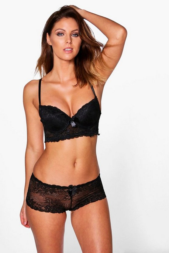 Megan Long Line Bra + Short Set