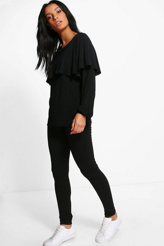 Millie Cape Ruffle Loungewear Top + Legging Set