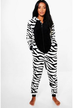 Ella Tiger Stripe Kitty Fleece Novelty Onesie