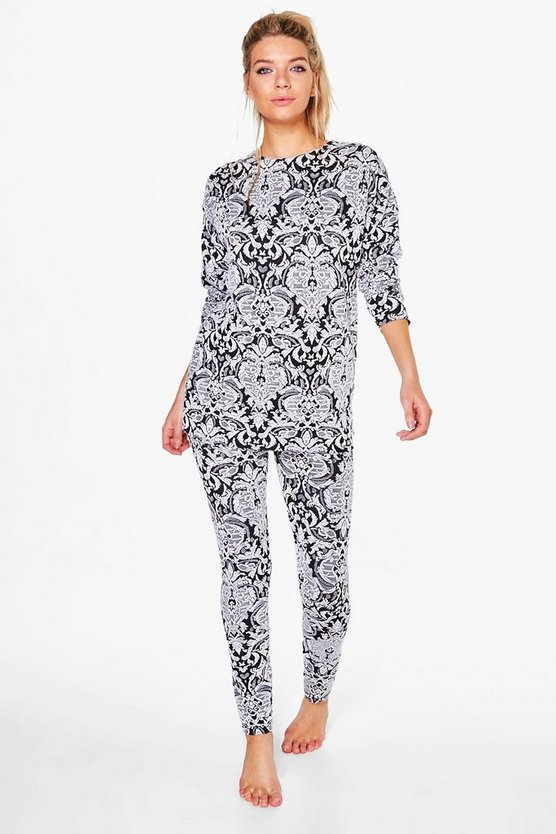 Erin Jacquard Woven Raw Edge Lounge Set